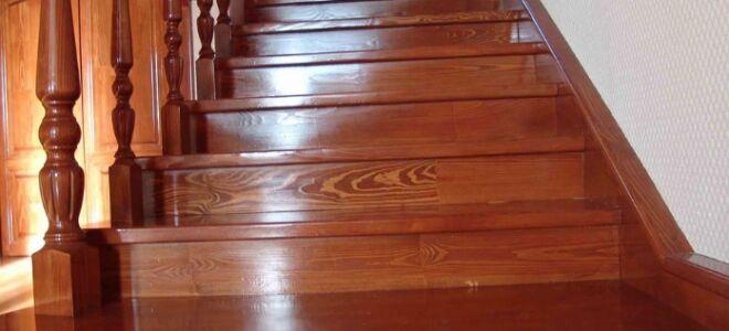 Лаки для лестницы из дерева