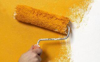 Валики для покраски стен – виды и правила покраски