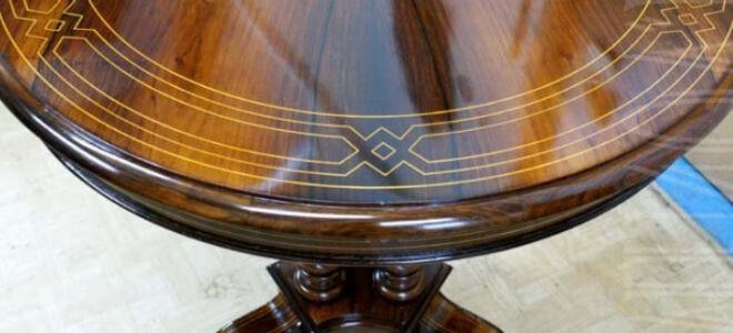 Каким лаком покрыть деревянный стол?