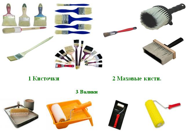 Инструменты для лакирования