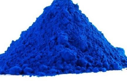 Синяя сухая краска